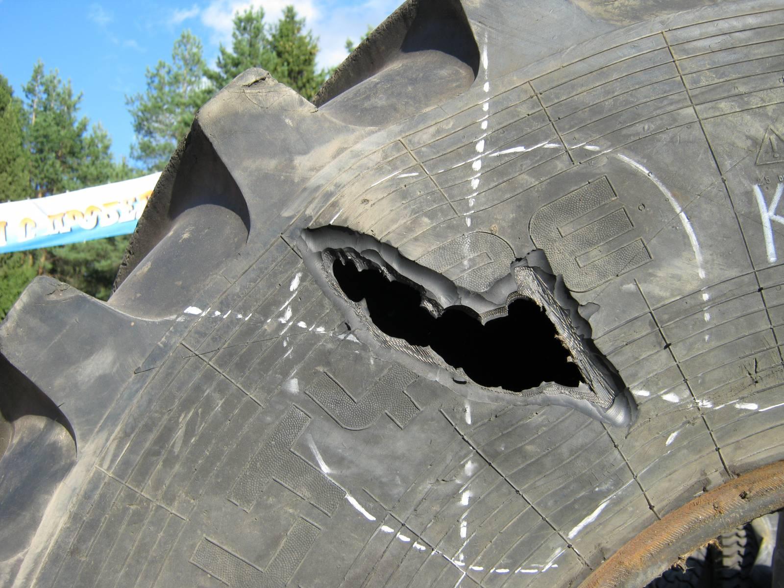 Фото ремонта бокового пореза